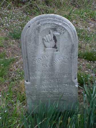 REUTHER, MARY ELIZABETH - Meigs County, Ohio | MARY ELIZABETH REUTHER - Ohio Gravestone Photos