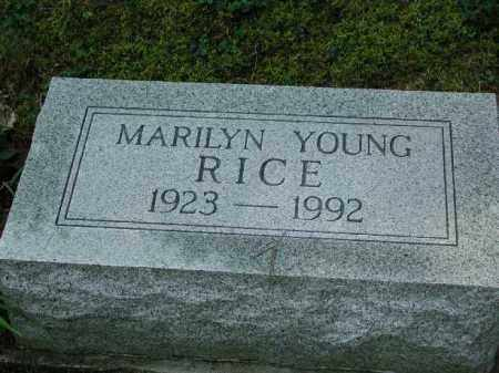 YOUNG RICE, MARILYN - Meigs County, Ohio | MARILYN YOUNG RICE - Ohio Gravestone Photos