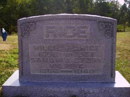 RICE, WILLIAM L. - Meigs County, Ohio | WILLIAM L. RICE - Ohio Gravestone Photos
