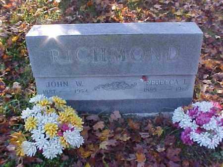 RICHMOND, JOHN W. - Meigs County, Ohio | JOHN W. RICHMOND - Ohio Gravestone Photos