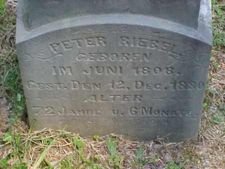 RIEBEL, PETER - Meigs County, Ohio   PETER RIEBEL - Ohio Gravestone Photos