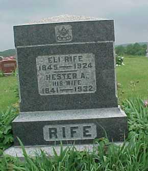 RIFE, HESTER A. - Meigs County, Ohio | HESTER A. RIFE - Ohio Gravestone Photos