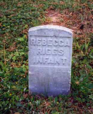RIGGS, REBECCA - Meigs County, Ohio | REBECCA RIGGS - Ohio Gravestone Photos