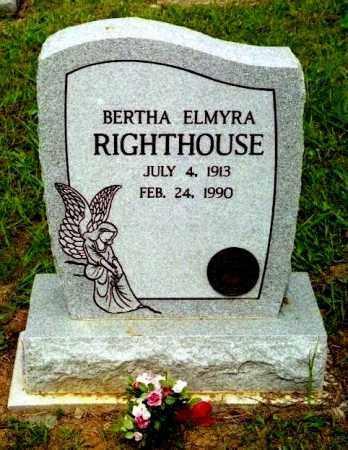 RIGHTHOUSE, BERTHA ELMYRA - Meigs County, Ohio   BERTHA ELMYRA RIGHTHOUSE - Ohio Gravestone Photos
