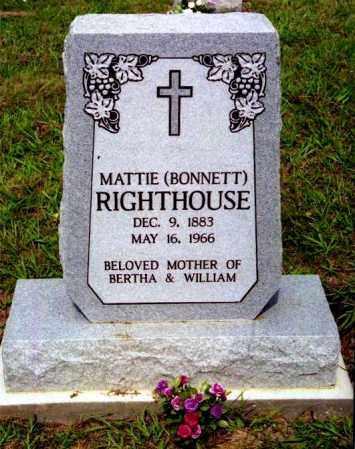 BONNETT RIGHTHOUSE, MATTIE - Meigs County, Ohio   MATTIE BONNETT RIGHTHOUSE - Ohio Gravestone Photos