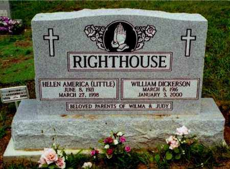 RIGHTHOUSE, WILLIAM DICKERSON - Meigs County, Ohio | WILLIAM DICKERSON RIGHTHOUSE - Ohio Gravestone Photos