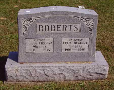 ROBERTS, SARAH MELVINA - Meigs County, Ohio | SARAH MELVINA ROBERTS - Ohio Gravestone Photos