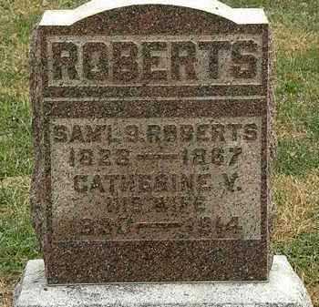 ROBERTS, CATHERINE V. - Meigs County, Ohio | CATHERINE V. ROBERTS - Ohio Gravestone Photos