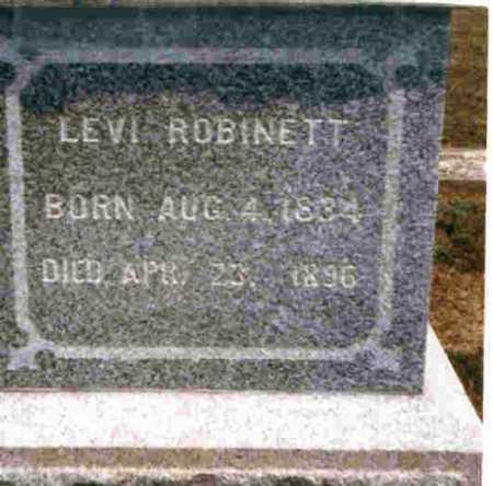 ROBINETT, LEVI - Meigs County, Ohio   LEVI ROBINETT - Ohio Gravestone Photos