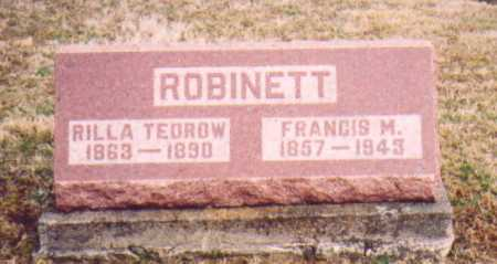 ROBINETTE, FRANCIS M. - Meigs County, Ohio | FRANCIS M. ROBINETTE - Ohio Gravestone Photos