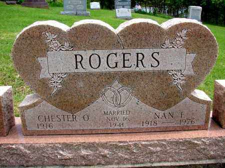 ROGERS, CHESTER O - Meigs County, Ohio | CHESTER O ROGERS - Ohio Gravestone Photos