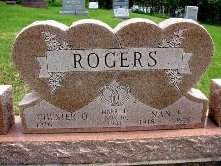 ROGERS, NAN F - Meigs County, Ohio | NAN F ROGERS - Ohio Gravestone Photos