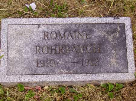ROHRBAUGH, ROMAINE - Meigs County, Ohio | ROMAINE ROHRBAUGH - Ohio Gravestone Photos