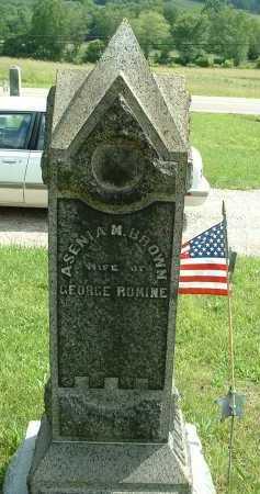 BROWN ROMINE, ASENIA - Meigs County, Ohio | ASENIA BROWN ROMINE - Ohio Gravestone Photos