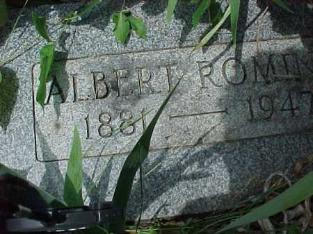 ROMINE, ALBERT - Meigs County, Ohio   ALBERT ROMINE - Ohio Gravestone Photos