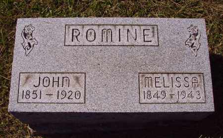 ROMINE, MELISSA - Meigs County, Ohio | MELISSA ROMINE - Ohio Gravestone Photos