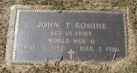 ROMINE, JOHN T. - MILITARY - Meigs County, Ohio | JOHN T. - MILITARY ROMINE - Ohio Gravestone Photos
