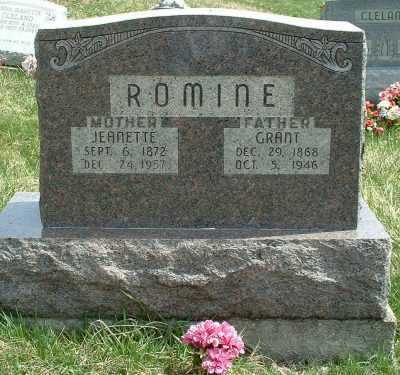 PIERCE ROMINE, CLYSTRIA JEANETTE - Meigs County, Ohio | CLYSTRIA JEANETTE PIERCE ROMINE - Ohio Gravestone Photos