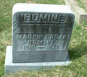 ROMINE, MARVIN EDGAR - Meigs County, Ohio   MARVIN EDGAR ROMINE - Ohio Gravestone Photos