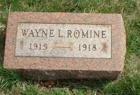 ROMINE, WAYNE L. - Meigs County, Ohio | WAYNE L. ROMINE - Ohio Gravestone Photos