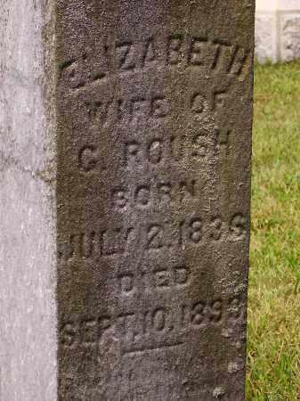 ROUSH, ELIZABETH - Meigs County, Ohio   ELIZABETH ROUSH - Ohio Gravestone Photos
