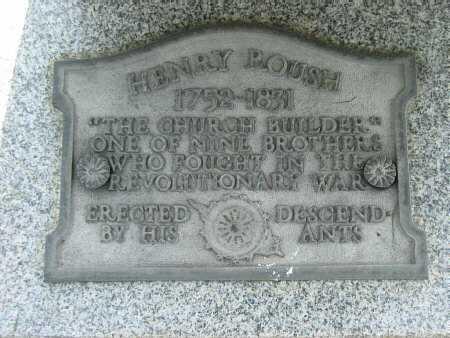 ROUSH, HENRY - Meigs County, Ohio | HENRY ROUSH - Ohio Gravestone Photos