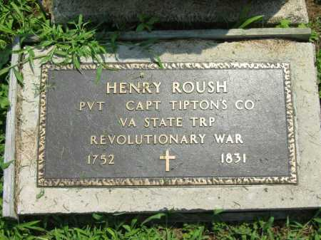 ROUSH, HENRY - Meigs County, Ohio   HENRY ROUSH - Ohio Gravestone Photos