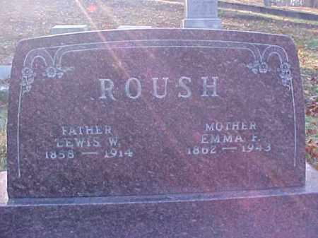 ROUSH, LEWIS W. - Meigs County, Ohio   LEWIS W. ROUSH - Ohio Gravestone Photos