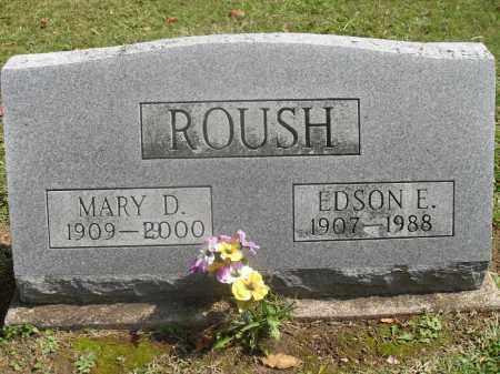 ROUSH, EDSON E. - Meigs County, Ohio | EDSON E. ROUSH - Ohio Gravestone Photos