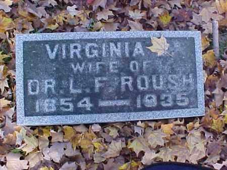 ROUSH, VIRGINIA - Meigs County, Ohio | VIRGINIA ROUSH - Ohio Gravestone Photos