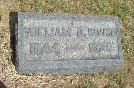 ROUSH, WILLIAM D. - Meigs County, Ohio   WILLIAM D. ROUSH - Ohio Gravestone Photos