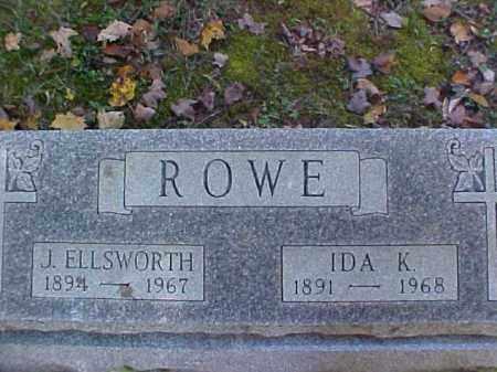 ROWE, JAMES ELLSWORTH - Meigs County, Ohio   JAMES ELLSWORTH ROWE - Ohio Gravestone Photos