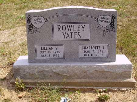 YATES, CHARLOTTE J. - Meigs County, Ohio   CHARLOTTE J. YATES - Ohio Gravestone Photos
