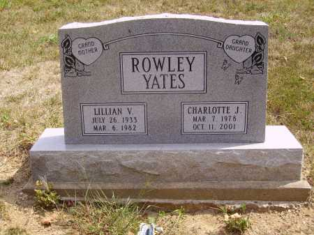 ROWLEY YATES, CHARLOTTE J. - Meigs County, Ohio | CHARLOTTE J. ROWLEY YATES - Ohio Gravestone Photos
