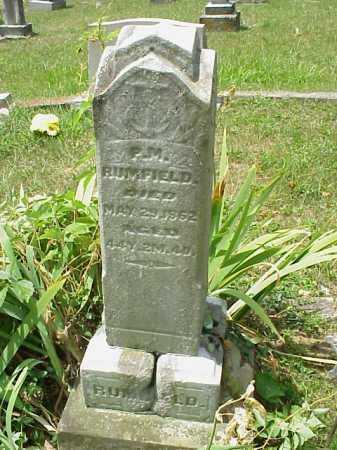 RUMFIELD, P.M. [PELIG M.] - Meigs County, Ohio   P.M. [PELIG M.] RUMFIELD - Ohio Gravestone Photos