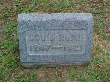 RUMP, LOUIS - Meigs County, Ohio | LOUIS RUMP - Ohio Gravestone Photos