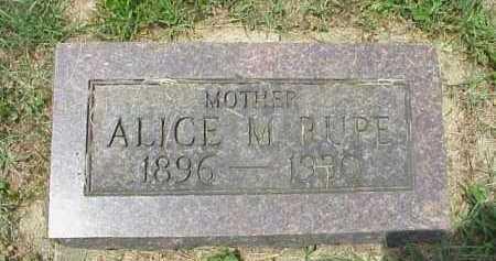 RUPE, ALICE M. - Meigs County, Ohio | ALICE M. RUPE - Ohio Gravestone Photos