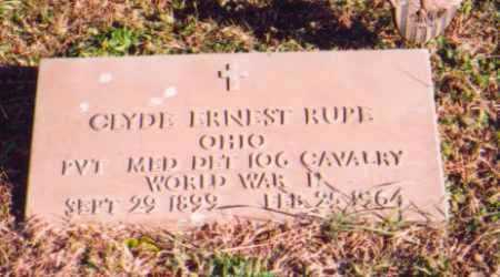 RUPE, CLYDE EARNEST (MILITARY) - Meigs County, Ohio | CLYDE EARNEST (MILITARY) RUPE - Ohio Gravestone Photos