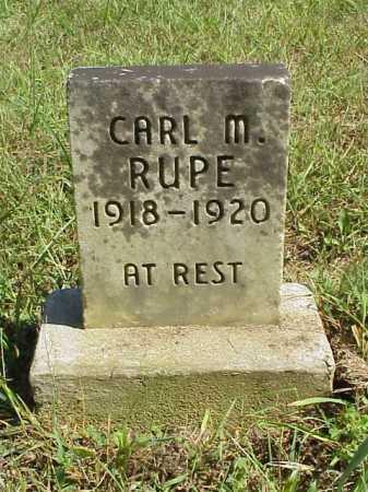 RUPE, CARL M. [MALCOM} - Meigs County, Ohio | CARL M. [MALCOM} RUPE - Ohio Gravestone Photos