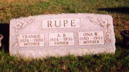 RUPE, FRANKIE - Meigs County, Ohio | FRANKIE RUPE - Ohio Gravestone Photos