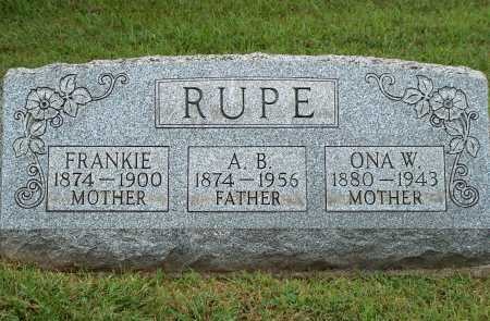 RUPE, FRANKIE - Meigs County, Ohio | FRANKIE RUPE - Ohio Gravestone Photos