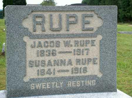 RUPE, JACOB W. - Meigs County, Ohio | JACOB W. RUPE - Ohio Gravestone Photos