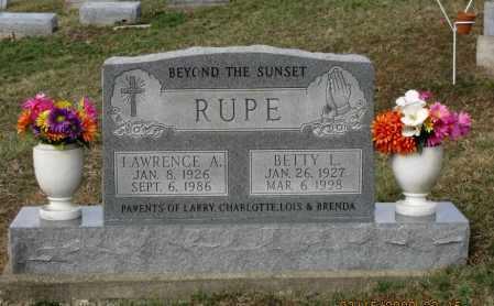 RUPE, BETTY - Meigs County, Ohio | BETTY RUPE - Ohio Gravestone Photos