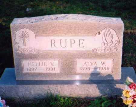 RUPE, ALVA W. - Meigs County, Ohio | ALVA W. RUPE - Ohio Gravestone Photos