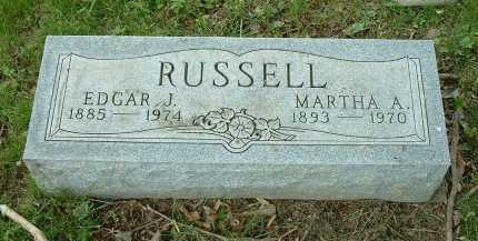 RUSSELL, MARTHA A. - Meigs County, Ohio | MARTHA A. RUSSELL - Ohio Gravestone Photos
