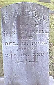 RUSSELL, ELIZABETH A. - Meigs County, Ohio | ELIZABETH A. RUSSELL - Ohio Gravestone Photos