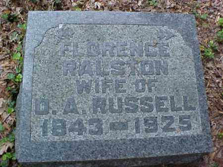 RALSTON RUSSELL, FLORENCE - Meigs County, Ohio | FLORENCE RALSTON RUSSELL - Ohio Gravestone Photos