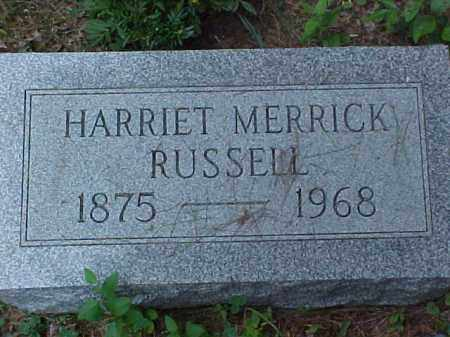 MERRICK RUSSELL, HARRIET - Meigs County, Ohio | HARRIET MERRICK RUSSELL - Ohio Gravestone Photos