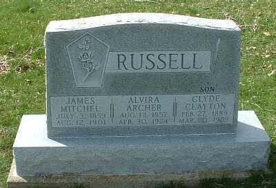 ARCHER RUSSELL, ALVIRA - Meigs County, Ohio | ALVIRA ARCHER RUSSELL - Ohio Gravestone Photos