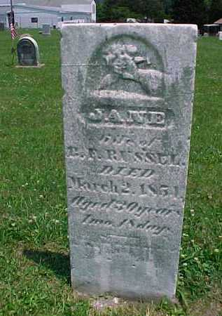 MCNEAL RUSSELL, JANE - Meigs County, Ohio | JANE MCNEAL RUSSELL - Ohio Gravestone Photos
